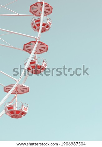 Ferris wheel against the blue sky, retro colors toning applied. Royalty-Free Stock Photo #1906987504