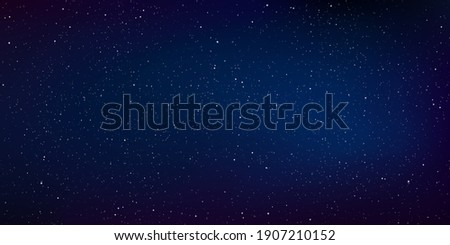 Star universe background, Stardust in deep universe, Milky way galaxy, Vector Illustration. Royalty-Free Stock Photo #1907210152