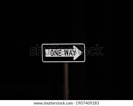 late night one way sign