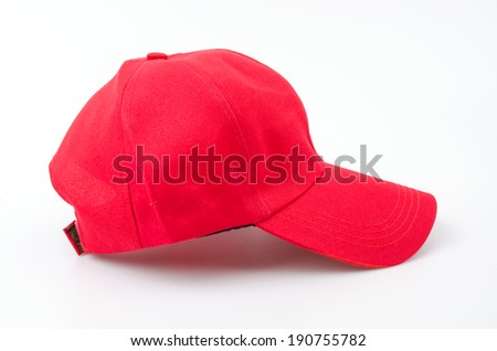 Baseball cap isolated white background #190755782