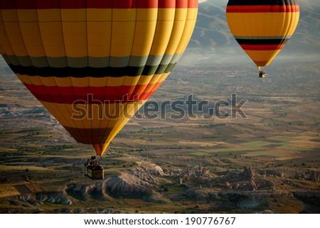 Hot Air Balloons Over Cappadocia, Turkey #190776767