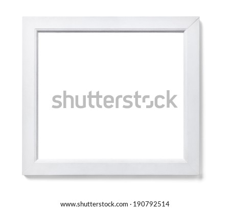 close up of  a white wood frame on white background #190792514