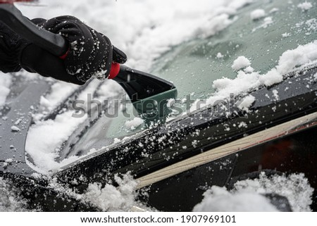 ice scraper scrapes the ice and snow from your car windshield