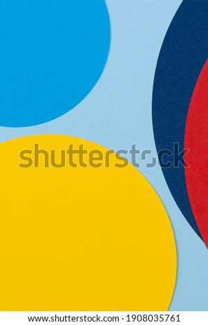 Texture background of fashion papers in memphis geometry style. Yellow, blue, light blue, red colors shapes and lines