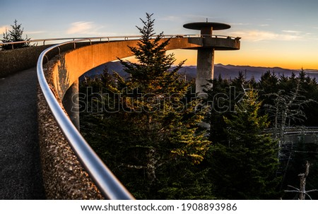 Long Ramp At Clingmans Dome Observation Tower In Great Smoky Mountains National Park. Royalty-Free Stock Photo #1908893986