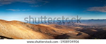 Panorama of Fuerteventura canarian island Royalty-Free Stock Photo #1908934906