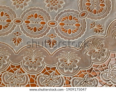 Abstract motif background on table