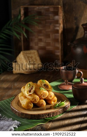 indonesian food delicious and healthy  Royalty-Free Stock Photo #1909252522