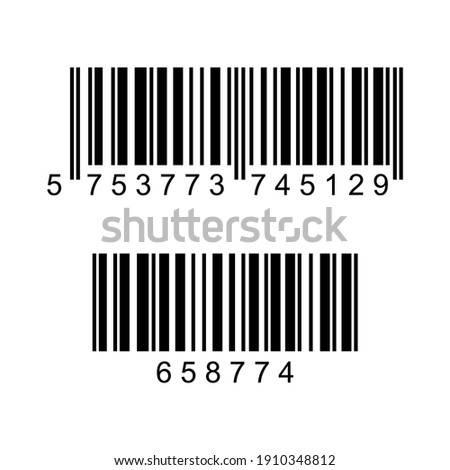vector design image of two barcode