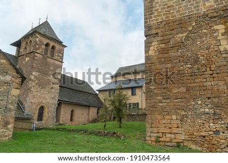Ceyrac South of France, Aveyron Occitania on September 24, 2020 nice view of the antique medieval stone buildings . Royalty-Free Stock Photo #1910473564