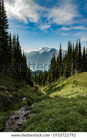 Adventures in Garibaldi Provincial Park near Whistler and Squamish, British Columbia Royalty-Free Stock Photo #1910722792