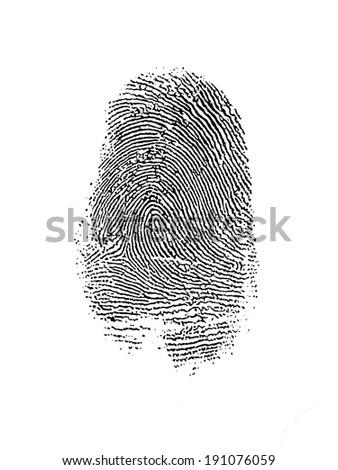 Thumb Print over White #191076059
