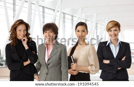 Diverse group of businesswomen of different ethnicity and age at office. #191094545