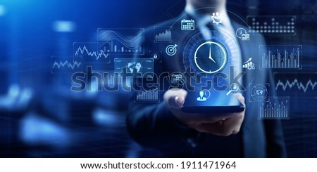 Time management Planning personal productivity business concept. Royalty-Free Stock Photo #1911471964
