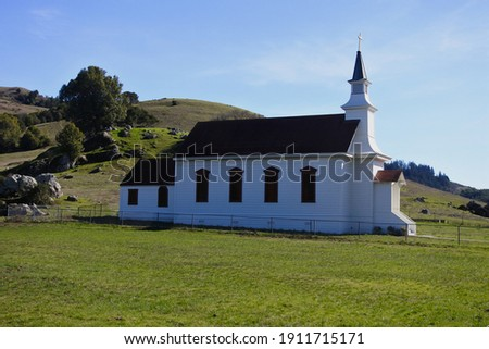 Nacasio, California  - February 4, 2021: Saint Mary's Church was built in 1867  and designated a historic landmark in 1967 Royalty-Free Stock Photo #1911715171