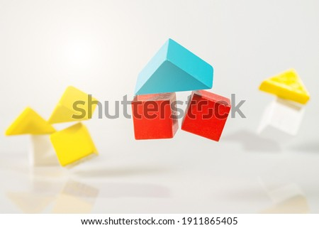 Earth Quake, Building or house shaking, house Insurance concept Royalty-Free Stock Photo #1911865405