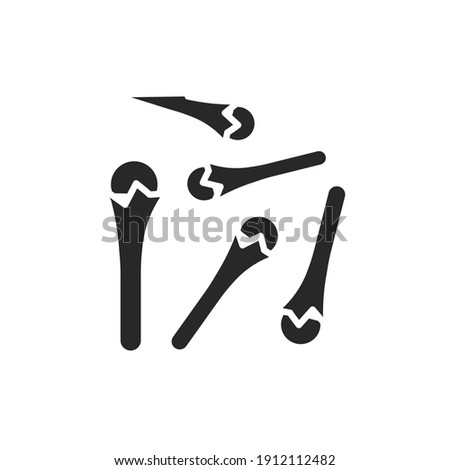Cloves black glyph icon. Spices, seasoning. Vector illustration Royalty-Free Stock Photo #1912112482