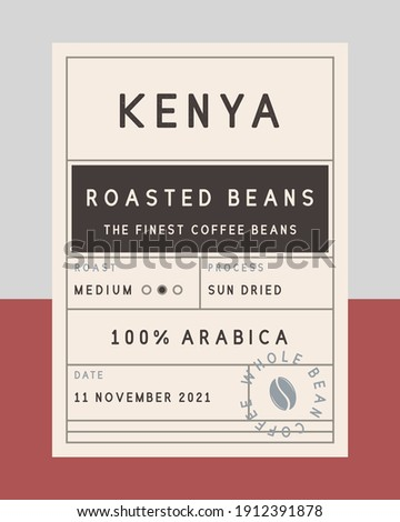 Vintage old label template. Coffee vintage packaging design. label, tag, sticker design for packaging. Roasted beans label. Vector illustration Royalty-Free Stock Photo #1912391878