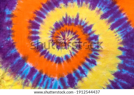 Fashionable Retro Abstract Psychedelic Tie Dye Swirl Design. Royalty-Free Stock Photo #1912544437