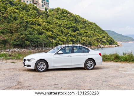 Hong Kong, China March 20, 2013 : BMW 328i test drive on March 20 2013 in Hong Kong. #191258228