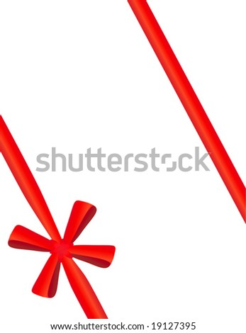 Red tape with a bow packing of a celebratory gift #19127395