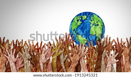 World day as diverse cultures and multiculturalism society and international tolerance celebration of global diversity and african american asian and caucasian culture integration and pride. Royalty-Free Stock Photo #1913245321