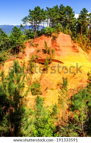 Red Cliffs in Roussillon (Les Ocres), Provence, France  #191333591