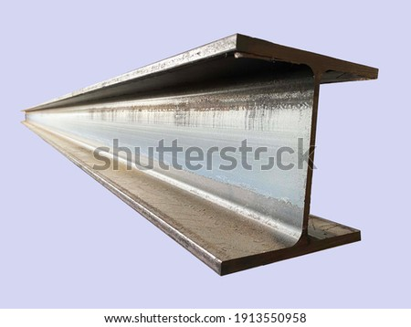 Steel beam beams isolated on gray background Royalty-Free Stock Photo #1913550958