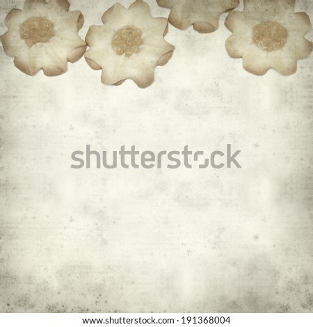 textured old paper background with shortbread biscuits #191368004