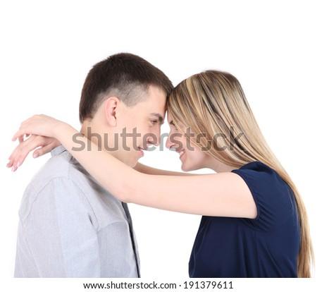 Loving couple isolated on white #191379611