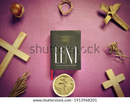 Lent Season,Holy Week and Good Friday Concepts - LENT with vintage background. Stock photo.
