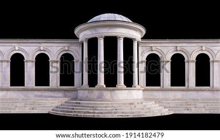 On the streets in Istanbul, public places. Elements of architectural decorations of buildings, doorways and arches, plaster moldings and patterns.  Royalty-Free Stock Photo #1914182479