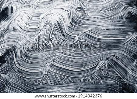 Brush strokes grunge abstract curves background, texture Royalty-Free Stock Photo #1914342376