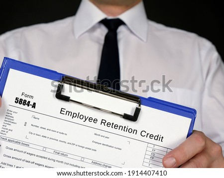Form 5884-A Employee Retention Credit  Royalty-Free Stock Photo #1914407410