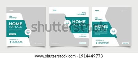Real Estate Social Media Post Template, Editable Post Template Social Media Banners. Royalty-Free Stock Photo #1914449773