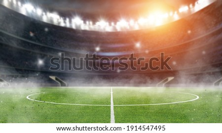 soccer ball in the stadium Royalty-Free Stock Photo #1914547495