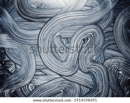 Brush strokes background, abstract curved brush stroke texture Royalty-Free Stock Photo #1914598495