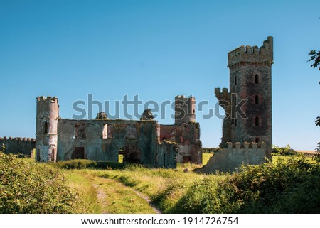 Sunny afternoon outside the ruins of Ardo Castle County Cork, Ireland  Royalty-Free Stock Photo #1914726754
