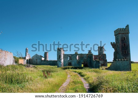 Sunny afternoon outside the ruins of Ardo Castle County Cork, Ireland  Royalty-Free Stock Photo #1914726769