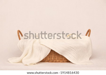 digital background for newborn photography with basket