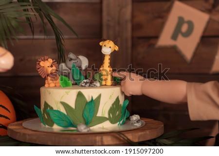 tropical party children party image selective focus