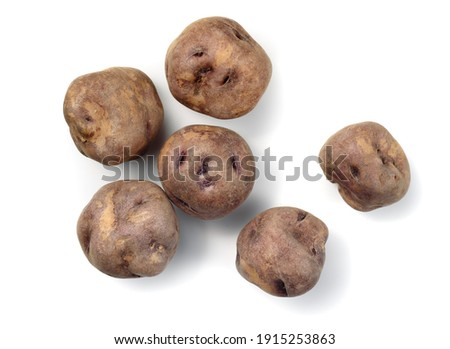 real canarian bonita potatoes from Tenerife isolated Royalty-Free Stock Photo #1915253863