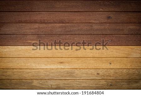 Wooden wall constructed with wood planks for vintage interior design #191684804