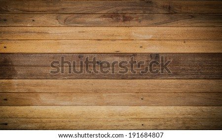 Wooden wall constructed with wood planks for vintage interior design #191684807