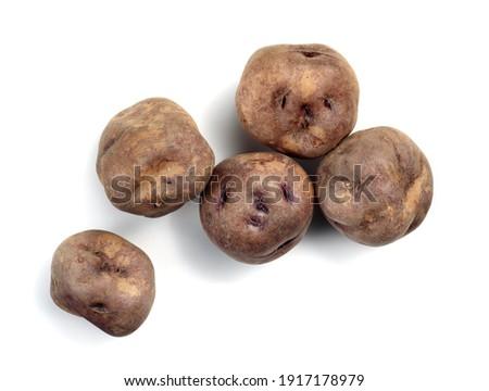 real canarian bonita potatoes isolated Royalty-Free Stock Photo #1917178979