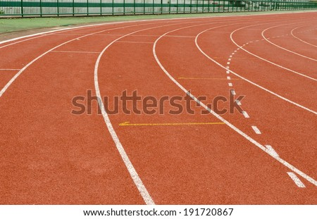 curve of running track. #191720867
