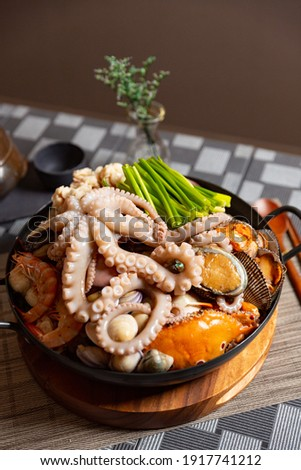 Korean traditional Octopus Food commercial photography
