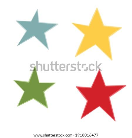 Colorful clip art of multicolored stars