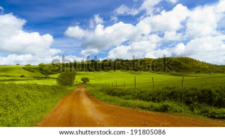 road in italy countryside, tuscany #191805086