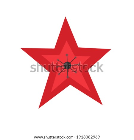 Color clip art of red star.
